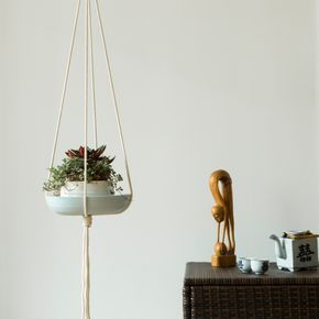 Cute Yvat Macram Plant Hanger Blumenampel using mm cotton rope Macrame Pinterest Cotton rope Ropes and Plants