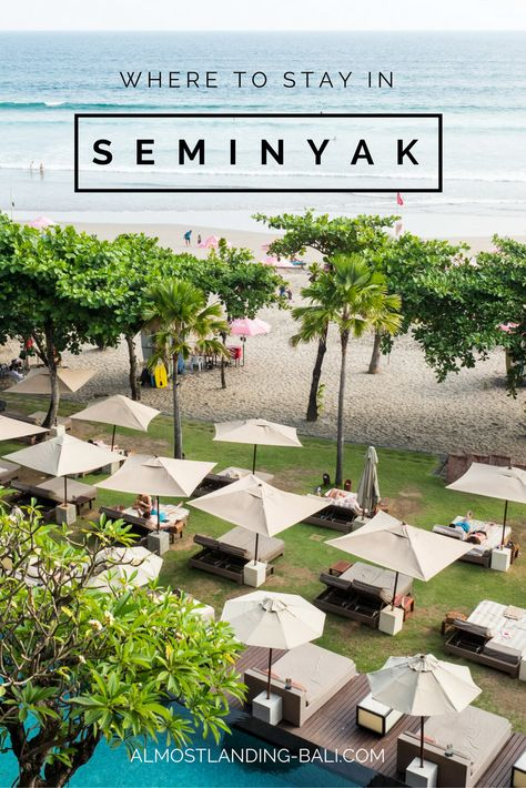 Where to stay in Seminyak Bali: Our Seminyak Accommodation Guide. The best hotels in Seminyak, the best areas to stay and how to book.