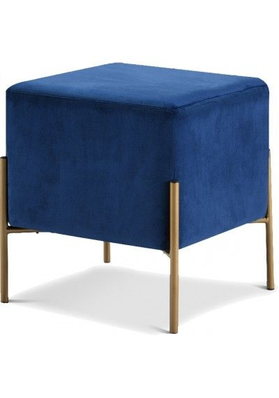 Excellent Blue Round Velvet Tufted Ottoman Footstool Home Decor Caraccident5 Cool Chair Designs And Ideas Caraccident5Info
