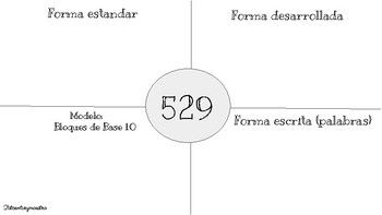 Spanish Place Value Worksheets 3 Digit Numbers Write Number 4