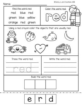 All About Colors With Images Color Worksheets For Preschool