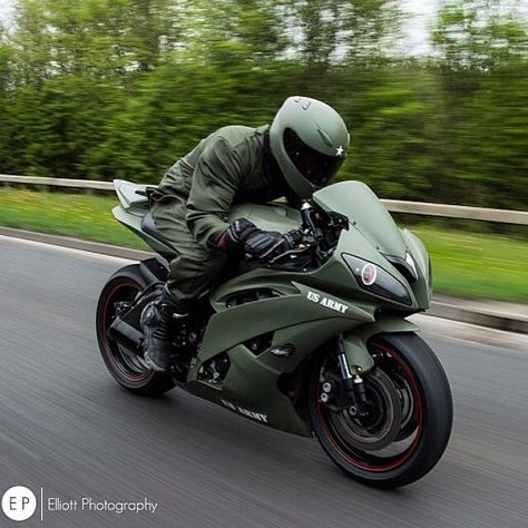 Army green ♡ put it on my CBR and I'm golden