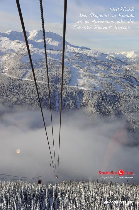 """Whistler - Skifahren wie im siebten Himmel. Das kann man hier wirklich - auf dem Whistler Mountain auf den """"Seventh Heaven""""-Pisten. Mit der """"Peak to Peak""""-Gondel (der höchsten der Welt) kommt man bequem dort hin. Wer es nicht selbst suchen will, dann geh mit auf Stumböck-Skisafari """"Whistler Klassik"""". Bis 30.09. gibt es noch unsere Frühbucheraktion."""