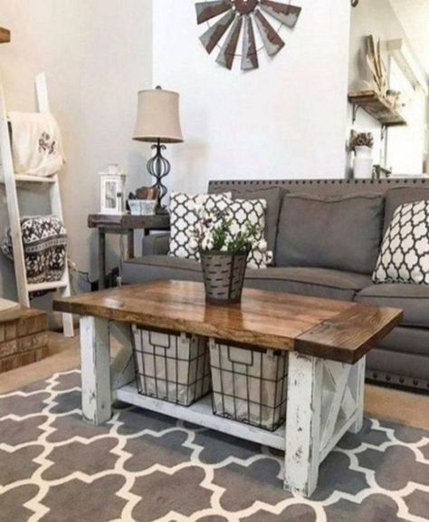 45 Cozy Farmhouse Living Room For Your Family's Warmth | DECOR IT'S
