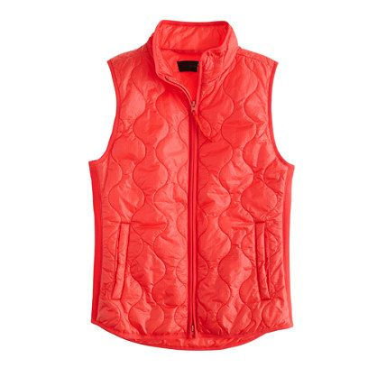 NEW WITH TAGS WOMENS S /& XL J CREW LAYERING VEST WITH PRIMALOFT SWEET PERSIMMON
