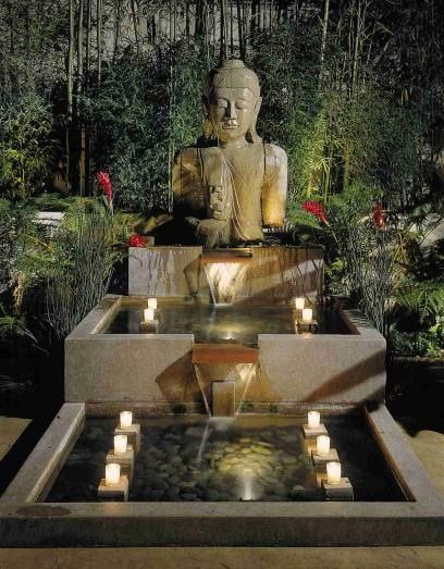 Buddha Statue And Fountain Get The Look At Mix Zen Garden Design Zen Garden Buddha Garden
