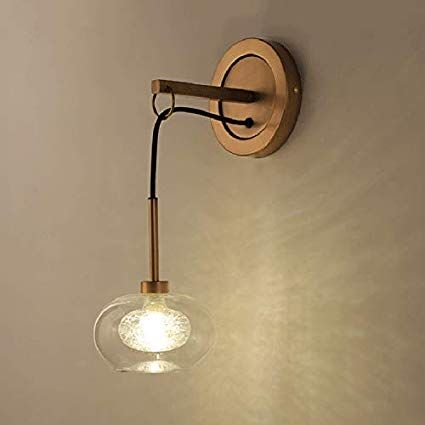 NIUYAO Vintage Metal Wall Lamp, Concise Modern Decorative