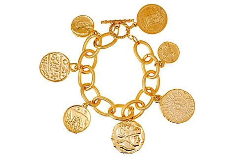 Classic Detailed Coin Link Bracelet on OneKingsLane.com. $29