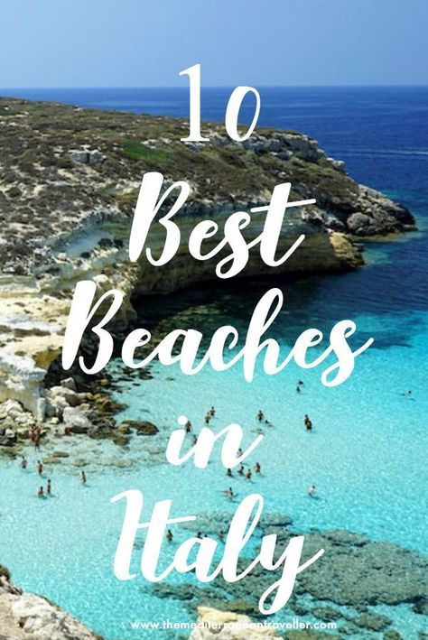 10 Best Beaches in Italy. Here are 10 of the most beautiful beaches in Italy (if not some of the best beaches in Europe). There's something for everyone, from grand sculptural rocks of Lampedusa and Scala dei Turchi, to perfect white sandy beaches in Sardinia and Sicily, and the picturesque historic settings of Polignano a Mare and San Fruttuoso. #italy #beach #beaches #summer #vacay #europe #travel #tmtb
