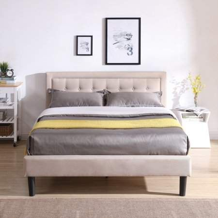 Modern Sleep Mornington Upholstered Platform Bed Headboard And