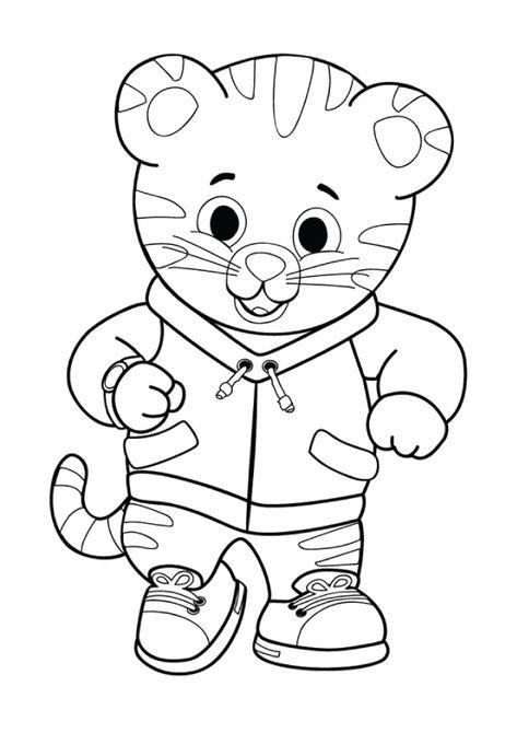 Print \ Color Daniel Tigeru0027s Neighborhood PBS KIDS Busy boys - new daniel tiger coloring pages to print