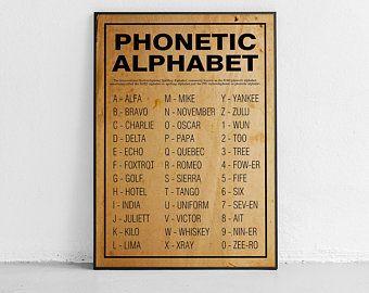 International Morse Code Sign Phonetic Alphabet Morse Code Etsy In 2021 International Morse Code Phonetic Alphabet Morse Code