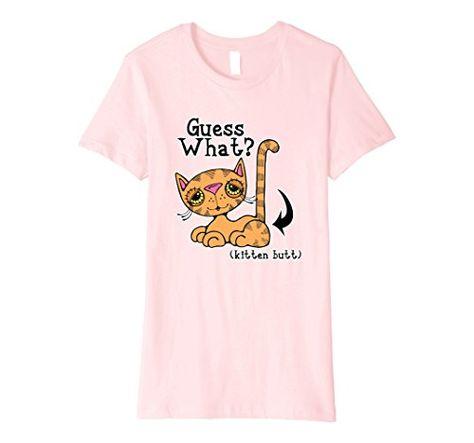 83eac684f Mens Guess What Kitten Butt Funny Cat Humor T-Shirt 2XL Asphalt