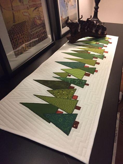 pinterest inspiriert  weihnachten patchwork tischläufer