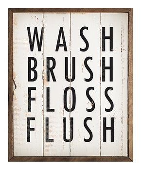 Best Selling Wall Art Zulily Wall Signs Wash Brush Wall