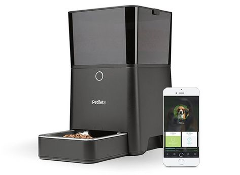 51eeea363 The Petnet Smart Feeder is an app controlled pet feeder that allows you to  feed your dog or cat with the right amount of food even when you re away!