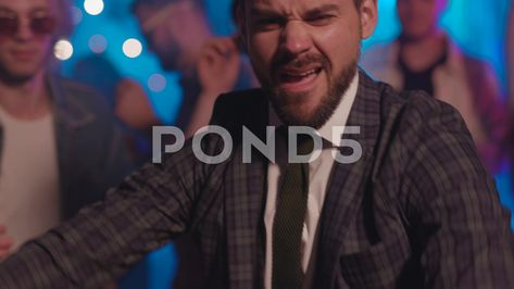 Portrait of attractive sexy young business man rocking off in suit with boys and Stock Footage #AD ,#young#business#sexy#Portrait