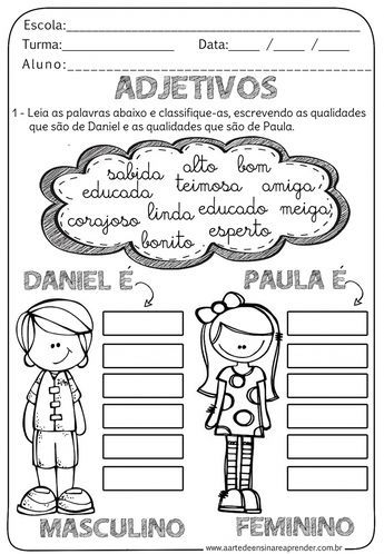Learning Portuguese For Business Atividades Adjetivos Adjetivos