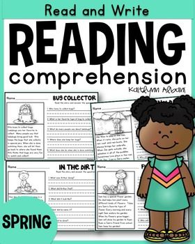 Spring reading comprehension passages - first grade