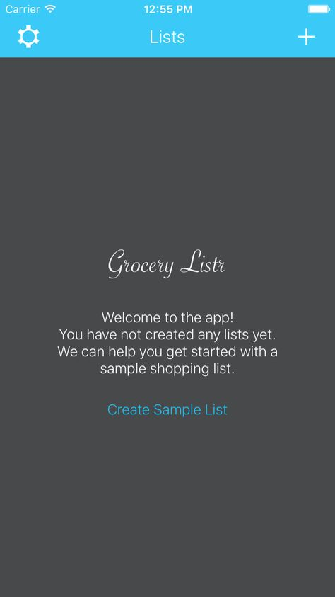Grocery Listr App for managing grocery shopping lists Shopping - sample shopping list
