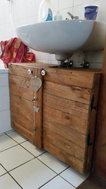 Waschbeckenunterschrank Aus Paletten Waschbeckenunterschrank Mobel Aus Paletten Badschrank