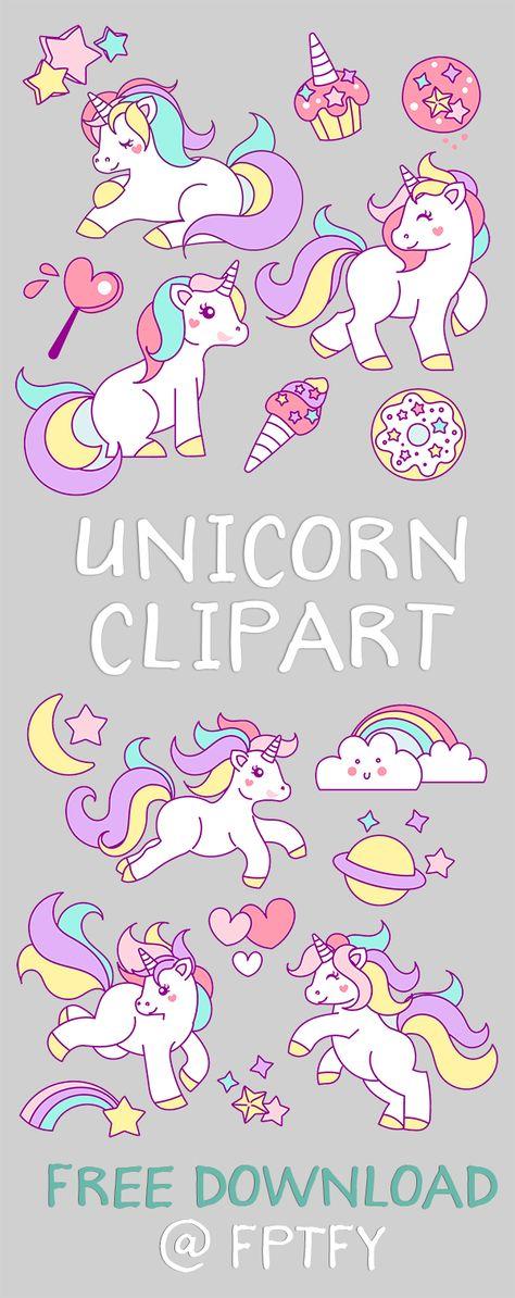 12 free unicorn printables Einhorn