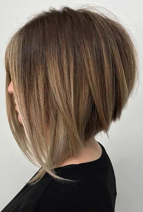 Find here the amazing looks of stacked bob hairstyles and haircuts a log with best long textured layers. If you wanna make your bob hairstyle more elegant and cool then you must see here for amazing styles of stacked bob haircuts in Asymmetrical Bob Haircuts, Inverted Bob Hairstyles, Bob Hairstyles For Fine Hair, Long Bob Haircuts, Medium Bob Hairstyles, Hairstyles Haircuts, Layered Haircuts, Wedding Hairstyles, Pixie Haircuts
