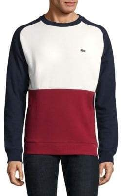 Mens Lacoste Logo Crew Neck Sweatshirt Sweater Long Sleeve New