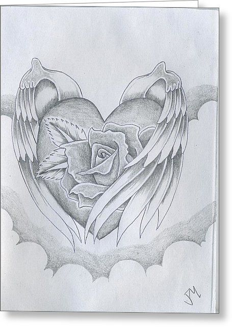 Wings Of Love Greeting Card by Justin Murdock
