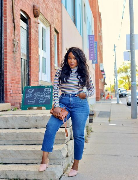 My Voguish Diaries: Striped turtleneck and jeans- My Voguish Diaries: Gestreifter Rollkragenpullover und Jeans. Zierliche und kurv… My Voguish Diaries: Striped turtleneck and jeans. Petite and curvy fashion – big size fashion for chubby -