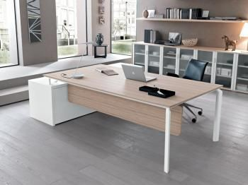 Bureau Meuble Retour Voile De Fond Wooden Office Desk Office Furnishing Executive Office