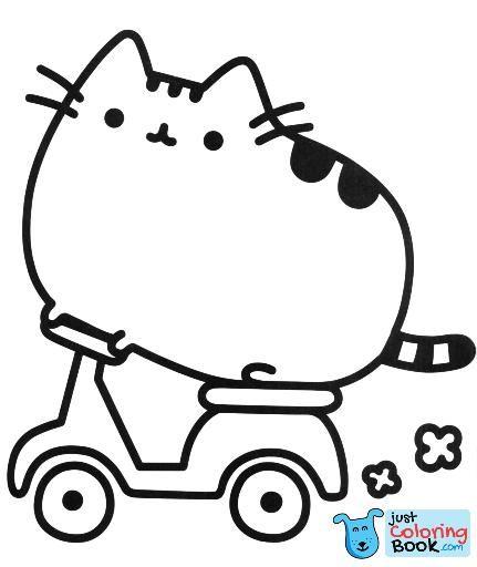 Pusheen Coloring Pages Cartoon Coloring Pages Pusheen Coloring In Cartoon Cat Coloring Pages Kleurplaten Pusheen Cartoons