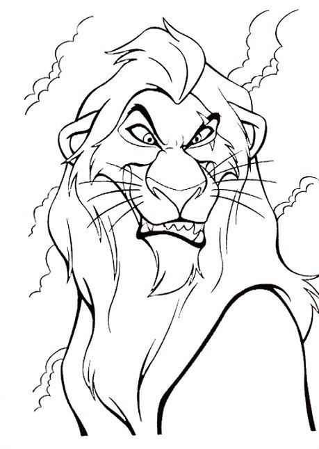 Disney Villains Coloring Page Scar Disney Coloring Pages With Images Disney Coloring Pages Lion Coloring Pages Disney Drawings