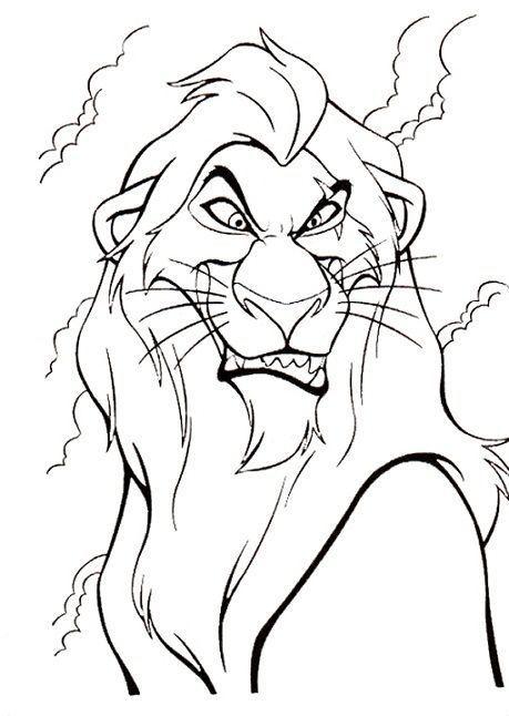 Disney Villains Coloring Page Scar Disney Coloring Pages Lion Coloring Pages Horse Coloring Pages Disney Coloring Pages