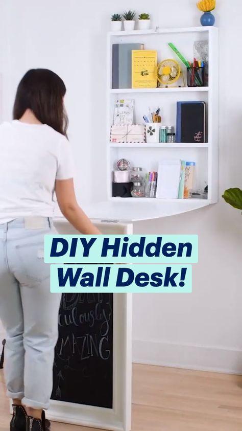 DIY Hidden Wall Desk!