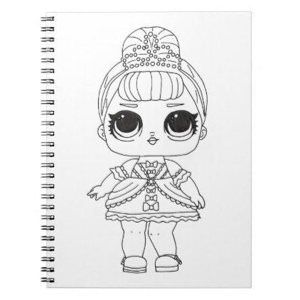 Lol Surprise Fancy Coloring Notebook Zazzle Com Baby Girl Toys Fancy Color