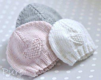 Preemie Hand Knit Beanie Hat Aquamarine