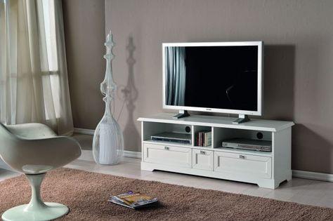 Mobile Porta Tv Plasma.Mobile Porta Tv In Legno Laccato Bianco Opaco Mobili Porta Tv