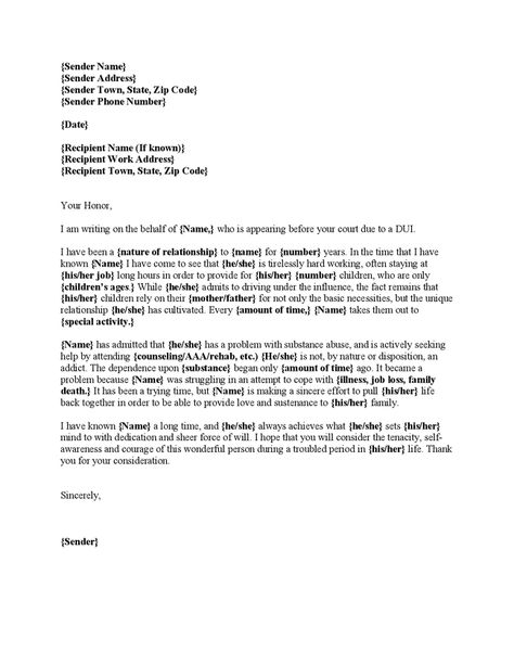 character letters for court templates - Google Search Reference - character reference form template