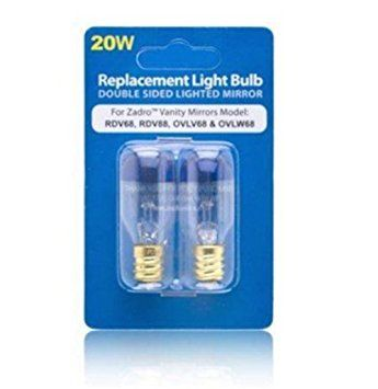 Light Bulb For Zadro Vanity Mirrors, Makeup Mirror Replacement Bulbs