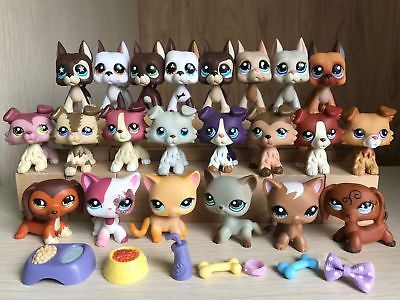 Littlest Pet Shop Lps Collie 363 Great Dane Dog Short Hair Cat 391