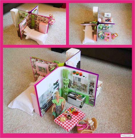 Leitzordner Diy Idee Platzsparendes Kleines Barbiehaus In