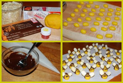 how to make marizpan bees