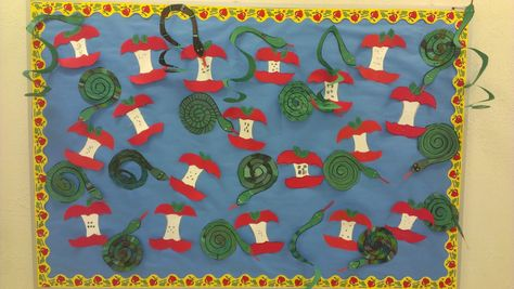 Free Apple and Snake crafts from Charlotte's Clips and Kindergarten Kids