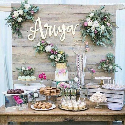 Adorables Ideas Para Fiestas Con Flores Mesa De Postres
