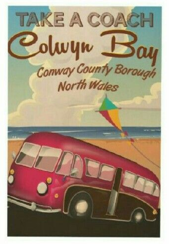 Wall art poster poster North Wales : Vintage Travel advert reproduction.