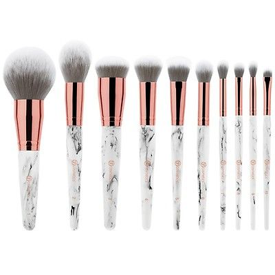 Marble Luxe 10 Piece Brush Set Makeup Brush Set Bh Cosmetics Makeup Brushes