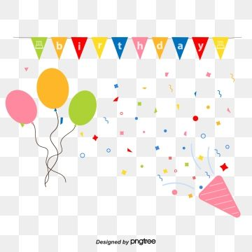 Happy Birthday Decorative Background Vector Background Clipart