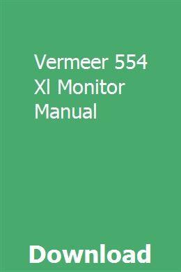 Vermeer 554 Xl Monitor Manual Repair Manuals Repair Volkswagen Tdi