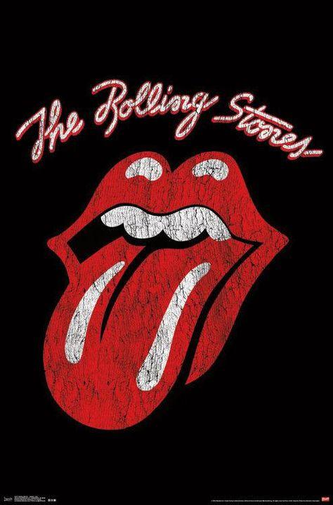 The Rolling Stones - Vintage Wash Logo - Poster